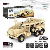 HG P602 Truck 1/12 2.4G 16CH 6WD 25km/h U.S.6X6 Explosion Proof Vehicle Truck RC Car Without Battery Charger