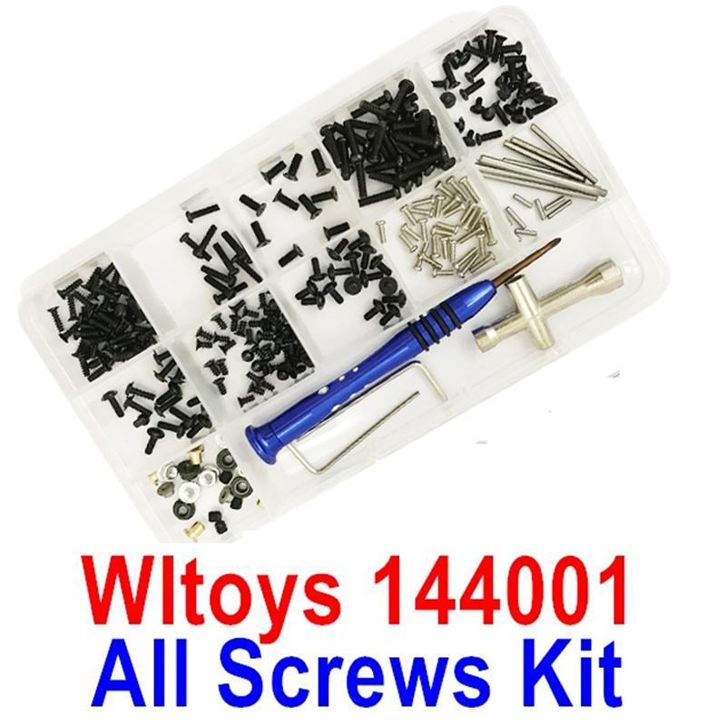Wltoys 14401 Parts-All Screws Set,Screws driver,Pins,Nut etc.