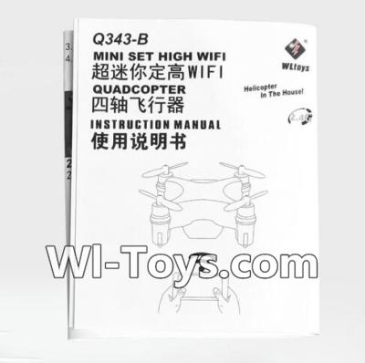 Wltoys Q343 Spare Parts-14 English Manual,Wltoys Q343 RC